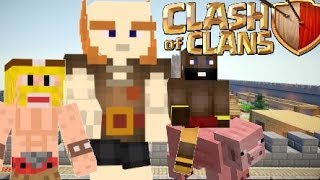 MINECRAFT CLASH OF CLANS MOD / FIGHT OF ALL THE BARBARIANS !!!!