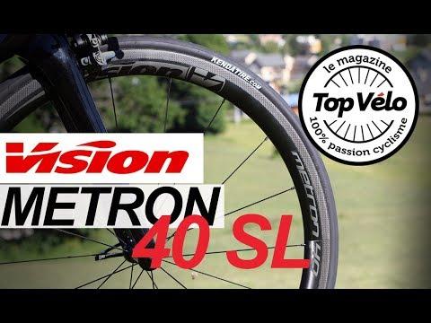 Image de la vidéo Essai roues vélo Vision Metron 40 SL à pneus