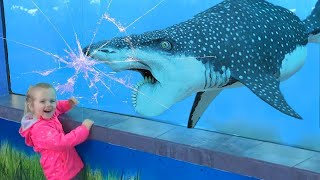 Cutest Baby Aquarium Adventures - Beluga Whales Playing with Kids and babies