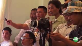 shwe pyi daw motel press conference against nld mp