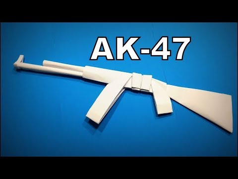 Origami Gun | How to Make a Paper Gun AK47 Weapons DIY | Easy Origami ART | Paper Crafts