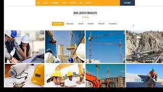 Titan Builders : Construction WordPress Theme   Free Template