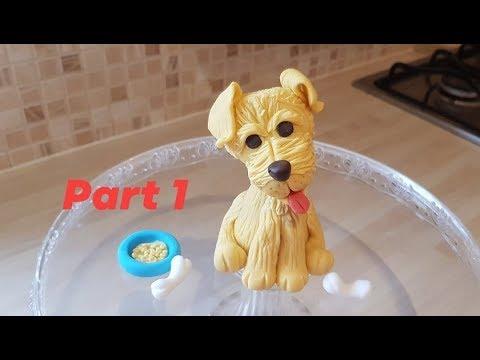 Simple Gumpaste Puppy Dog Tutorial  For Beginners Pt.1