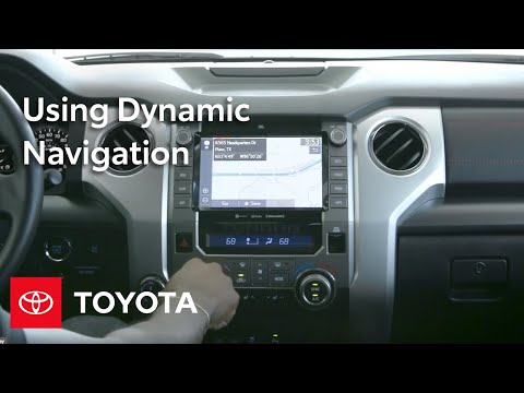 How To Use Dynamic Navigation In The Toyota Multimedia System