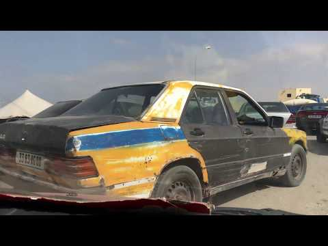 Driving through Nouakchott, Mauritania