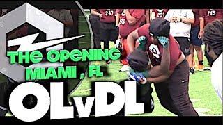 🔥 The Opening Regionals | Miami Florida | OL v DL | 1v1s | Under The Radar Highlight Mix