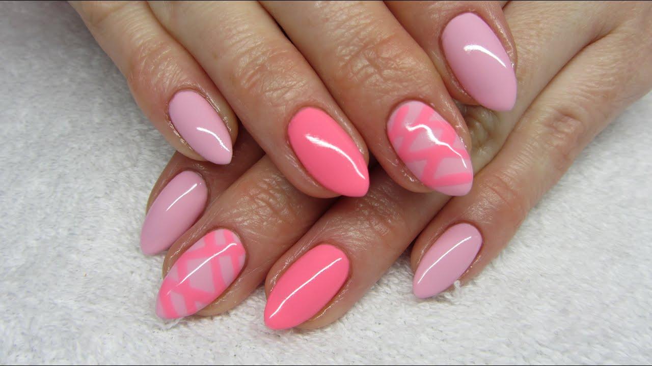pastel pink nails dress images