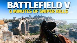 Battlefield V PC Gameplay - Gnarly Sniper Kills
