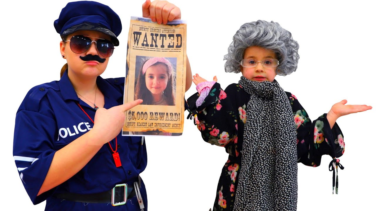 Download Ruby and Bonnie Pretend Play Police Chase Story and Costume Dress Up