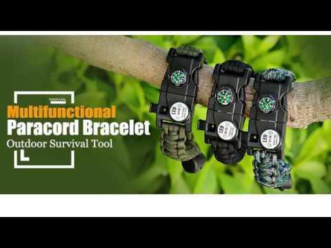 XNTBX Multifunctional Outdoor Survival Bracelet Introduction
