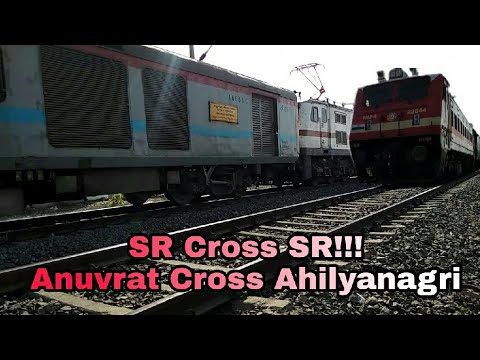 22632 Anuvrat AC SF vs 22646 Ahilyanagri SF express Time Captured 7 Hrs late TVC Indb Ahilya sf