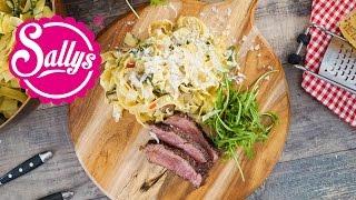 Rinderfilet mit Rucola-Tagliatelle / Filetto di Manzo e Rucola