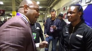 CLARESSA SHIELDS GETS FINAL ADVICE FROM ROY JONES JR AFTER FAREWELL HBO BOXING BROADCAST