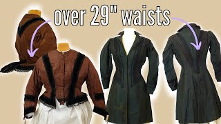 People Were *NOT* Smaller in the Past || Antique Victorian & Edwardian Clothing with 29+ inch Waists