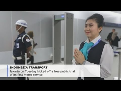 Jakarta opens first metro line to public after decades of delays