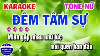 Karaoke Đêm Tâm Sự   Nhạc Sống Beat Nữ Hay   Karaoke Tuấn Cò
