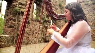 International Harpist playing bollywood songs for weddings in India