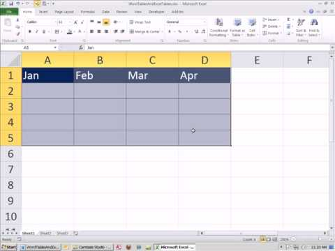 Office 2010 Class #10: Word Tables & Paste Special Link Excel Table Into Word Document