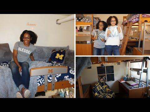 FRESHMAN DORM ROOM TOUR | University of Michigan | KoriMaria