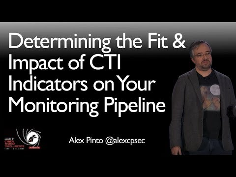 Determining the Fit & Impact of CTI Indicators on Your Monitoring Pipeline - SANS CTI Summit 2018