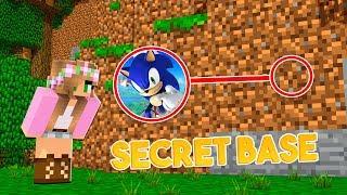 HOW to SNEAK into SONIC'S SECRET BASE | Minecraft w/ Little Kelly & Sharky