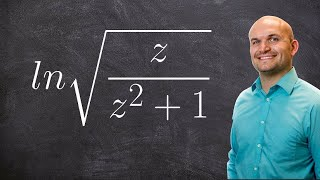 pre calculus expanding logarithmic expressions with a square root ln root z 1 z 2