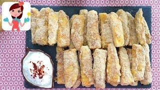 Fırında Çıtır Kabak Dilimleri Tarifi - Kevserin Mutfağı Yemek Tarifleri