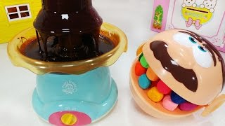 Play Doh Dentist Chocolate Fountain Makes Fun and Delicious Desserts Toys 초콜릿 분수 퐁듀 만들기 뽀로로 장난감