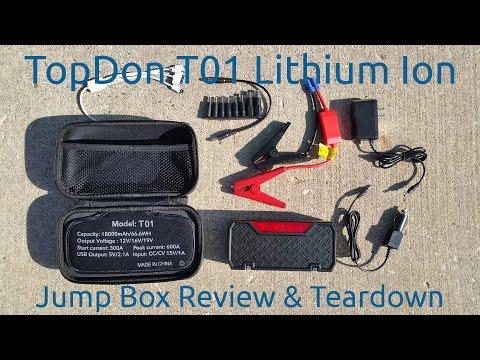 Topdon T01 Lithium Ion Jump Box Review & Teardown