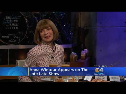 Anna Wintour Appears On Late Late Show