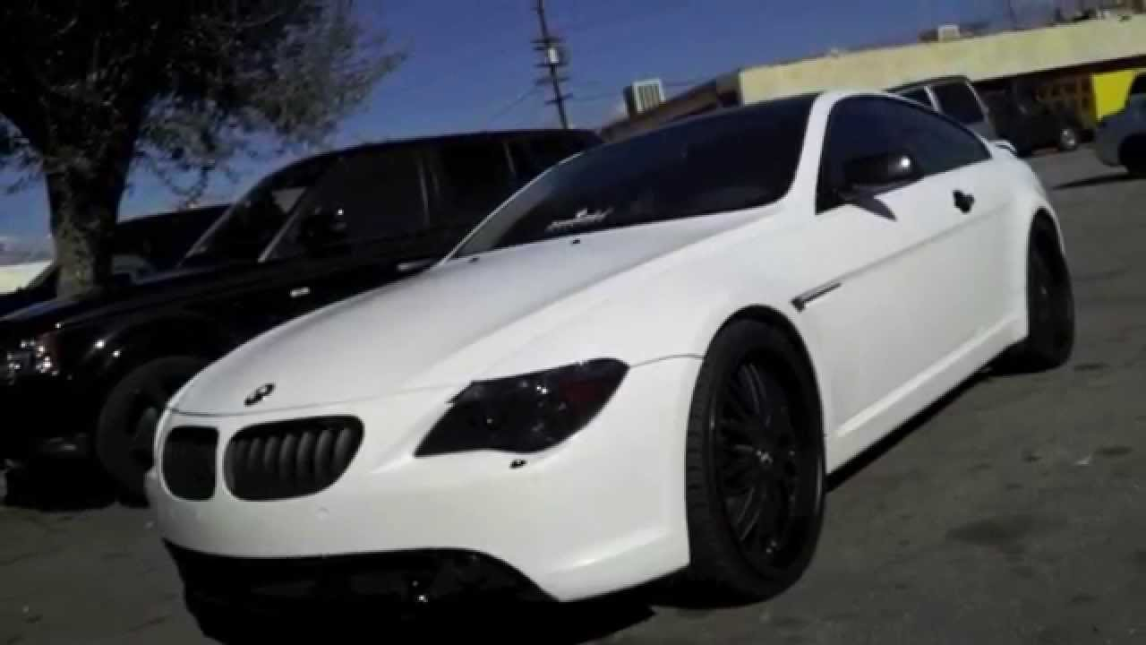 Bmw 650i Matte Satin White Wrapped By Dbx Www Dbxwraps