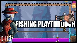 Terraria 1.3 Let's Play - Fishing Class Playthrough! CRYSTAL SERPANT. [11] PC Gameplay