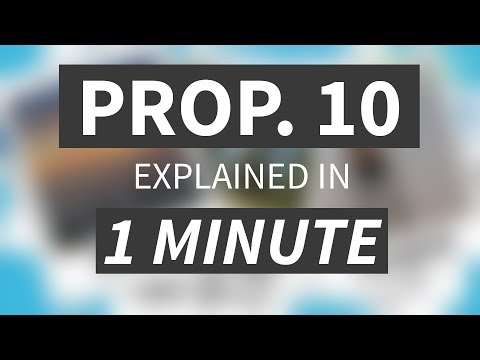 California Proposition 10, the  rent control initiative, explained in 1 minute