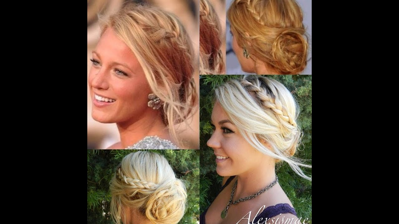 blake lively messy braided hair updo������ youtube