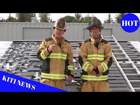 Tesla Solar Roof Firefighting Video Highlights Installation
