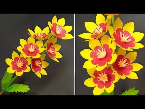 Paper Flower Tutorial: Easy Making Decoration Flower | DIY Paper Flower | Jarine's Crafty Creation