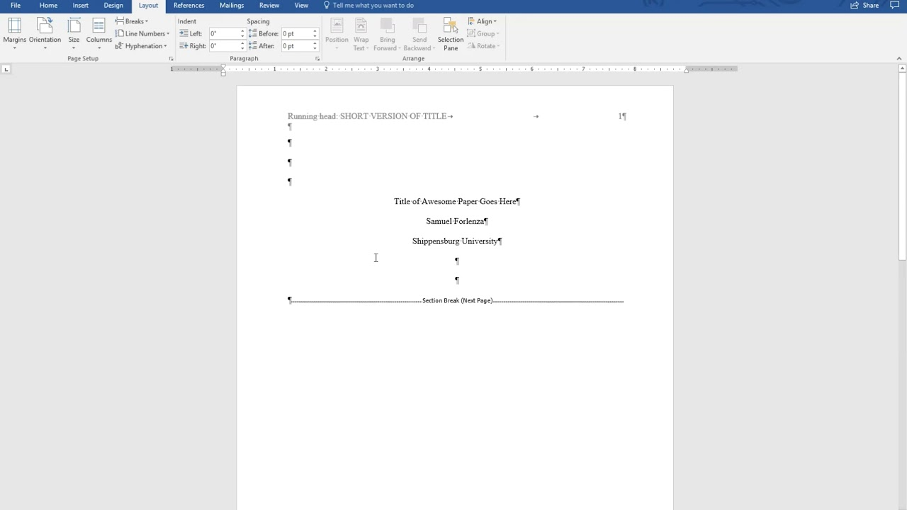 APA Style 6th Ed Title Page Running Head Abstract