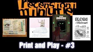 Recensioni Minute [171] - 4 Print and Play #3