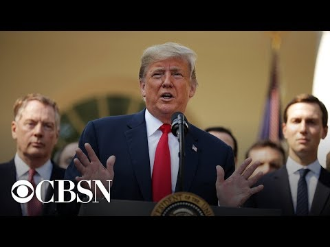 Donald Trump briefs the press at the Rose Garden after congressional meeting, live stream