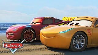 Cruz Ramirez and Hamilton in Action | Pixar Cars