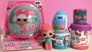 LOL Dolls Surprise Puzzle | Paw Patrol Superpups Crystal Mashems Series 4 | Lalaloopsy Mystery Can