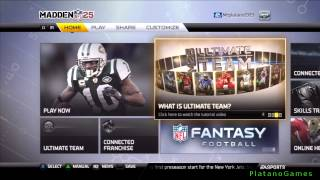 Madden NFL 25 - Menu Walkthrough & Discussion - PlayStation 3 - HD