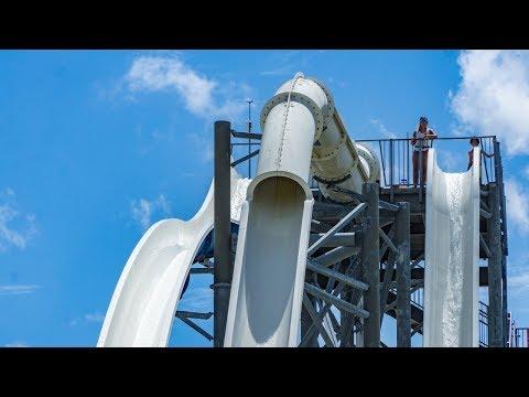 Sunsplash Family Waterpark - Terror Tube Waterslide | Extreme Drop Slide Onride