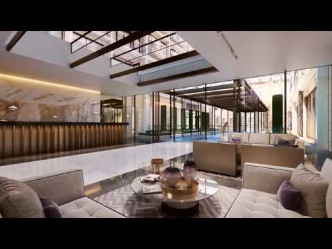 Exclusive residential development in London Landmark Place located on the river Thames