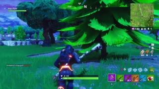 Mysterious blue light FortNite Battle royal
