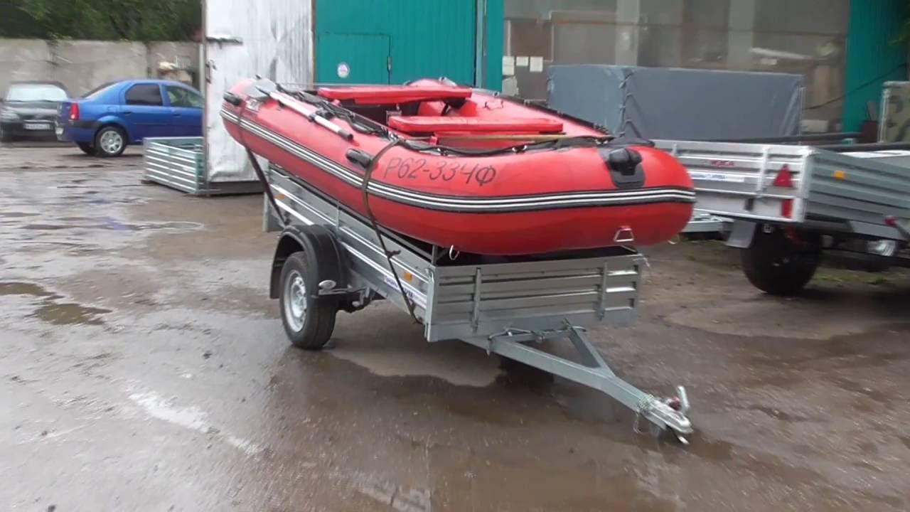 Универсальный прицеп для перевозки лодки ПВХ - YouTube
