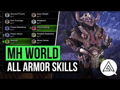 Monster Hunter World | All Armor Skills So Far (Armor Skill List)