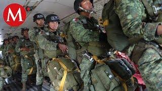 Paracaidistas de la Sedena se preparan para el desfile del 16 de septiembre