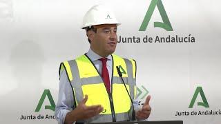 Moreno visita las obras del hospital de Osuna dentro del plan 'Andalucía en Marcha'