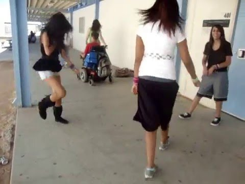 Shuffling at school on a boring day
